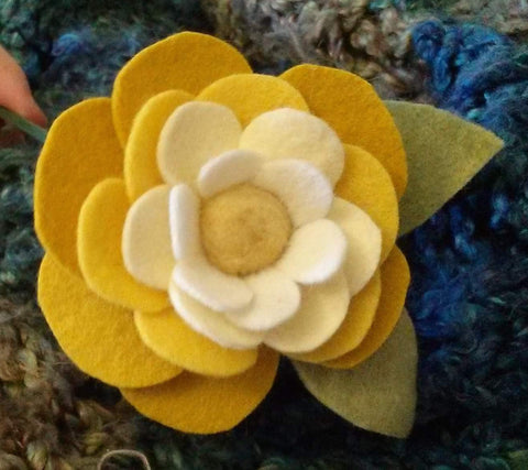 Needle Felted Flowers Class