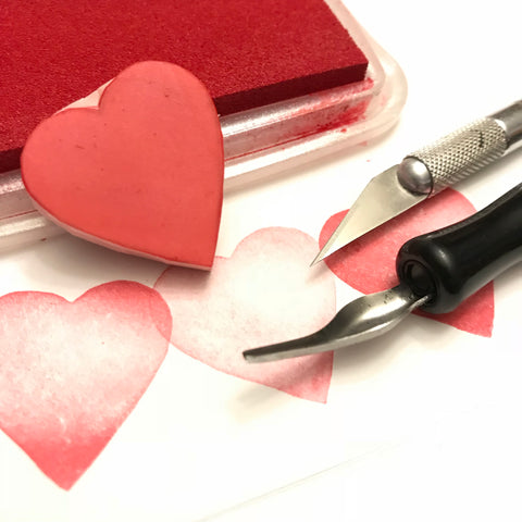 Beginner Stamp Carving - Valentines Day Theme