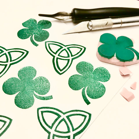 Beginner Stamp Carving: St Patrick's Day Theme