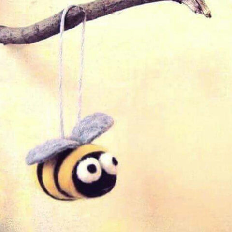 Needle Felted Bees Class