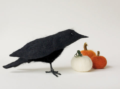 Beginner's Needle Felting - Crow