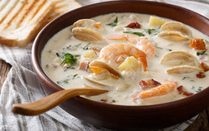 Clam Chowder with Shrimp and Bacon