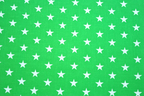 Green with White Stars - The Christmas Fabric Shop - 1