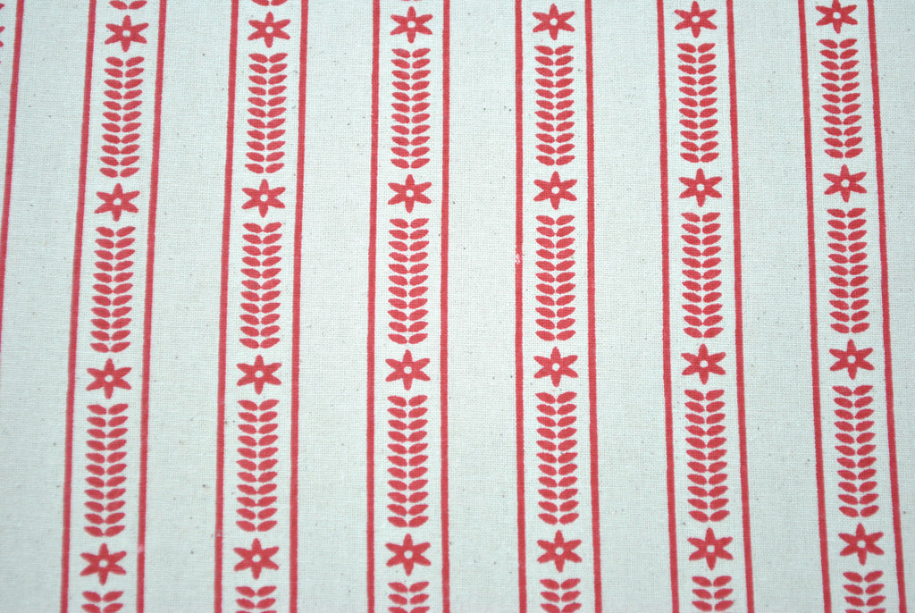 Red Scandi Stripe - The Christmas Fabric Shop - 1