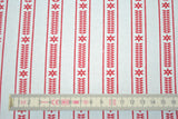 Red Scandi Stripe - The Christmas Fabric Shop - 2