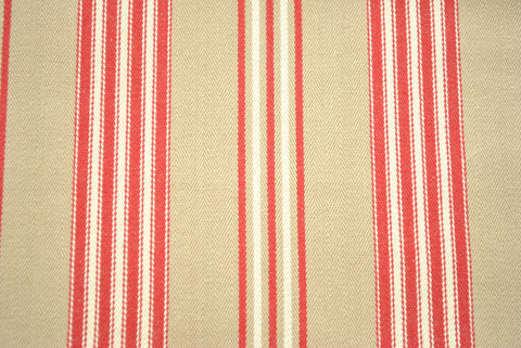 Beige and Red Stripe - The Christmas Fabric Shop - 1
