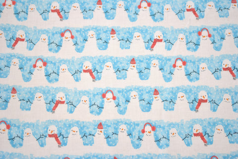 Cosy Snowmen - The Christmas Fabric Shop - 1