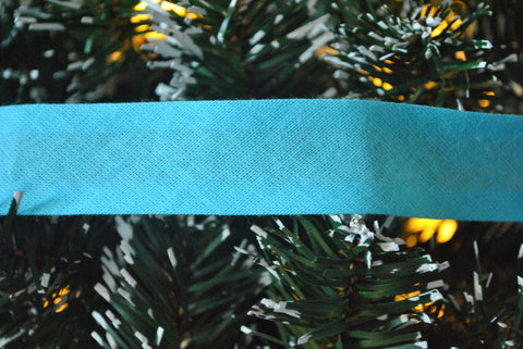 Aqua Bias Binding - The Christmas Fabric Shop - 1