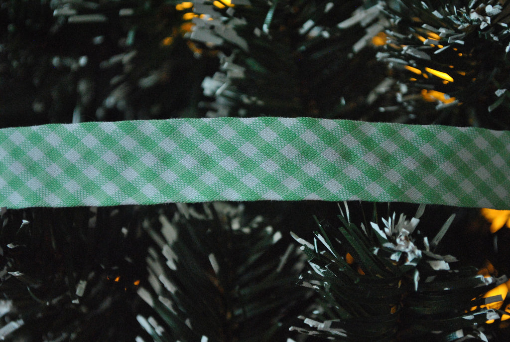 Mint Gingham Bias Binding - The Christmas Fabric Shop - 1