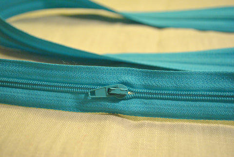 Turquoise Zip - The Christmas Fabric Shop