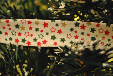 Christmas Star Bias Binding - The Christmas Fabric Shop