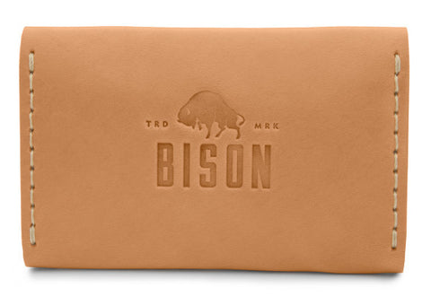 Visitkortsfodral i läder - Golden Tan från Bison Made, Sawyer Street Goods Co.