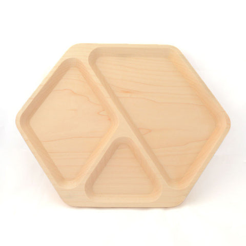 Hexagonal Valet Tray - Lönn från M&U, Sawyer Street Goods Co.