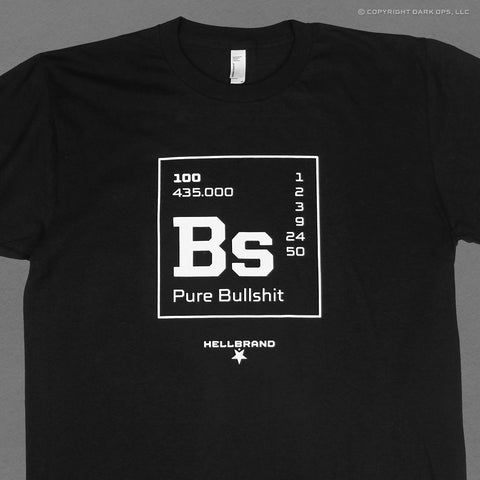 The core element of washington dc, bullshit, shown as an element chemical from the periodic table