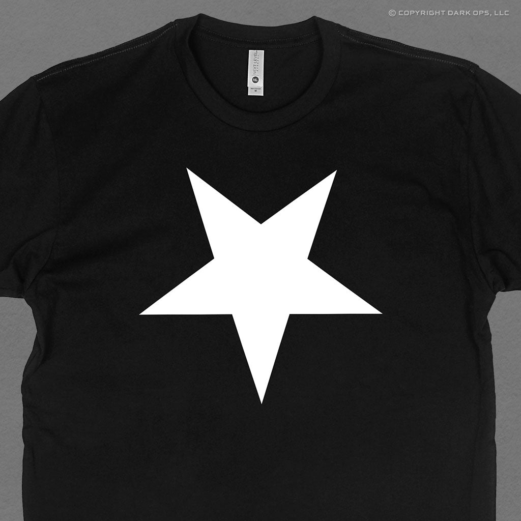 Hellbrand t-shirt featuring the inverted star logo