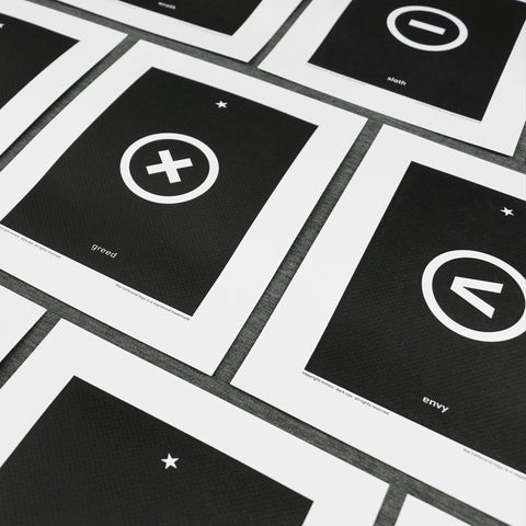 Hellbrand Deadly Sins Letterpress Prints