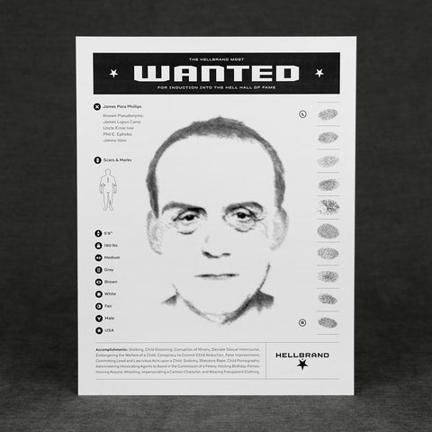 Hellbrand Most Wanted Flyers - Pedophile