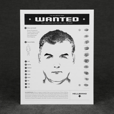 Hellbrand Most Wanted Flyers - Murderer