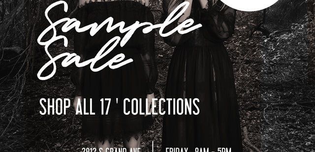 END OF YEAR SAMPLE SALE