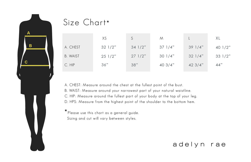 adelyn are size chart
