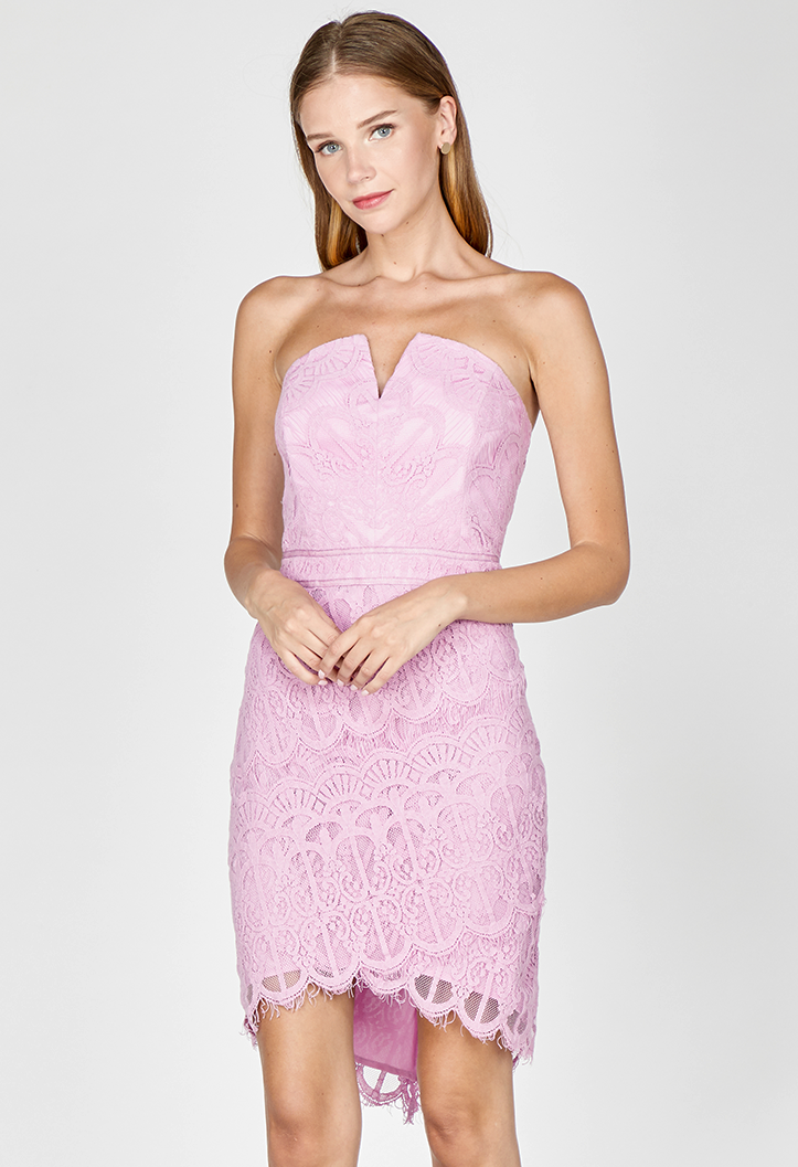 Alice Strapless Lace Dress