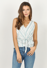 Behati Stripe Tie Top