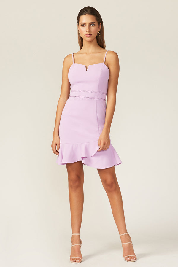Adelyn Rae Short Lavender Dress
