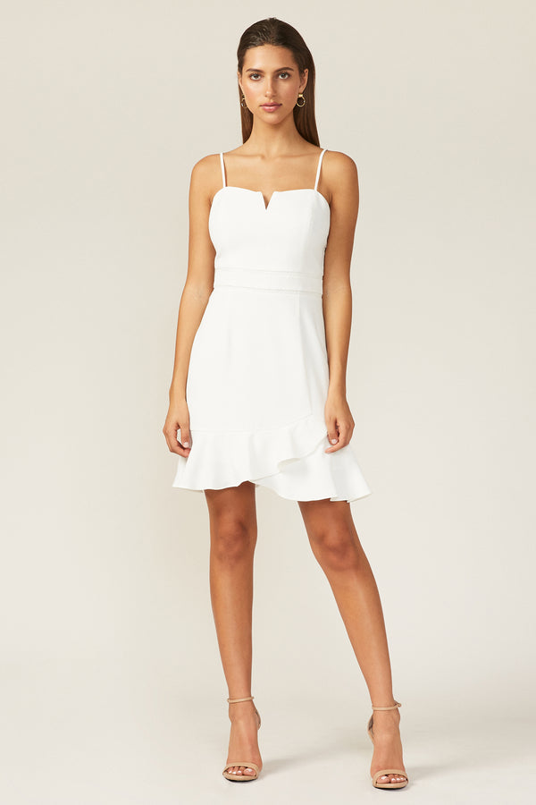 Adelyn Rae Short White Dress