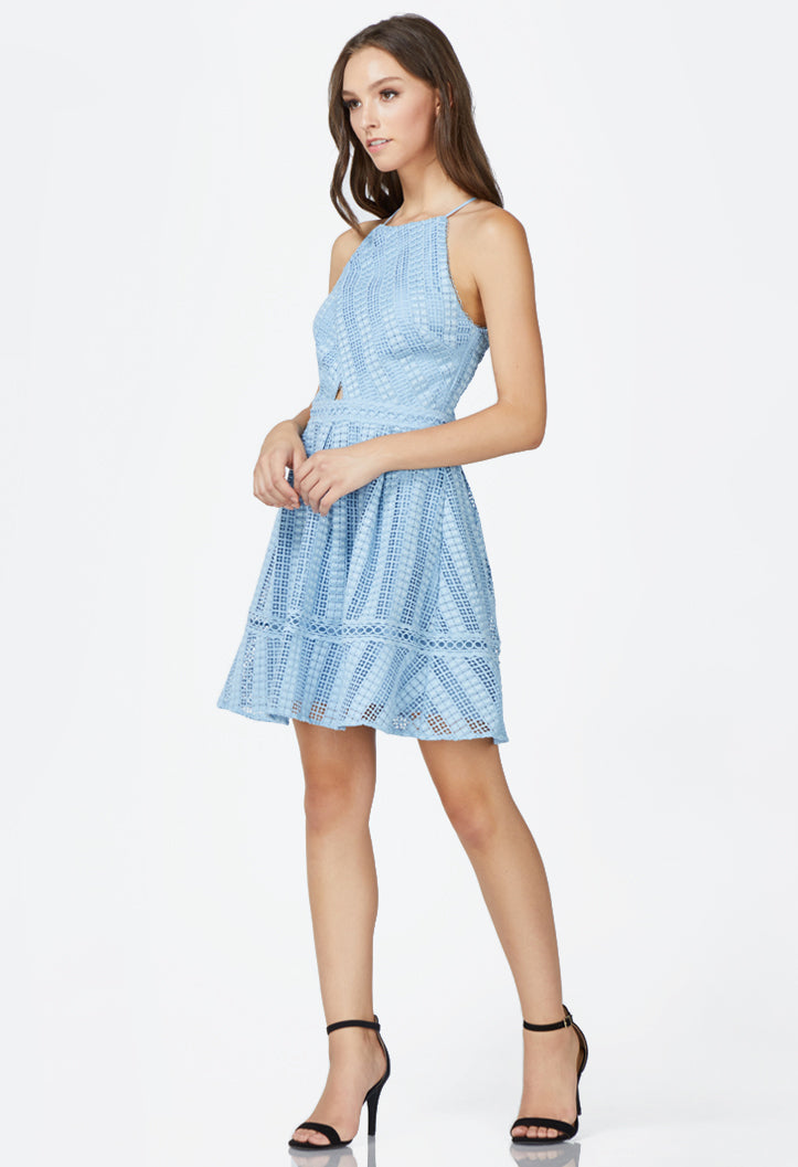 Rhea Fit and Flare Lace Dress