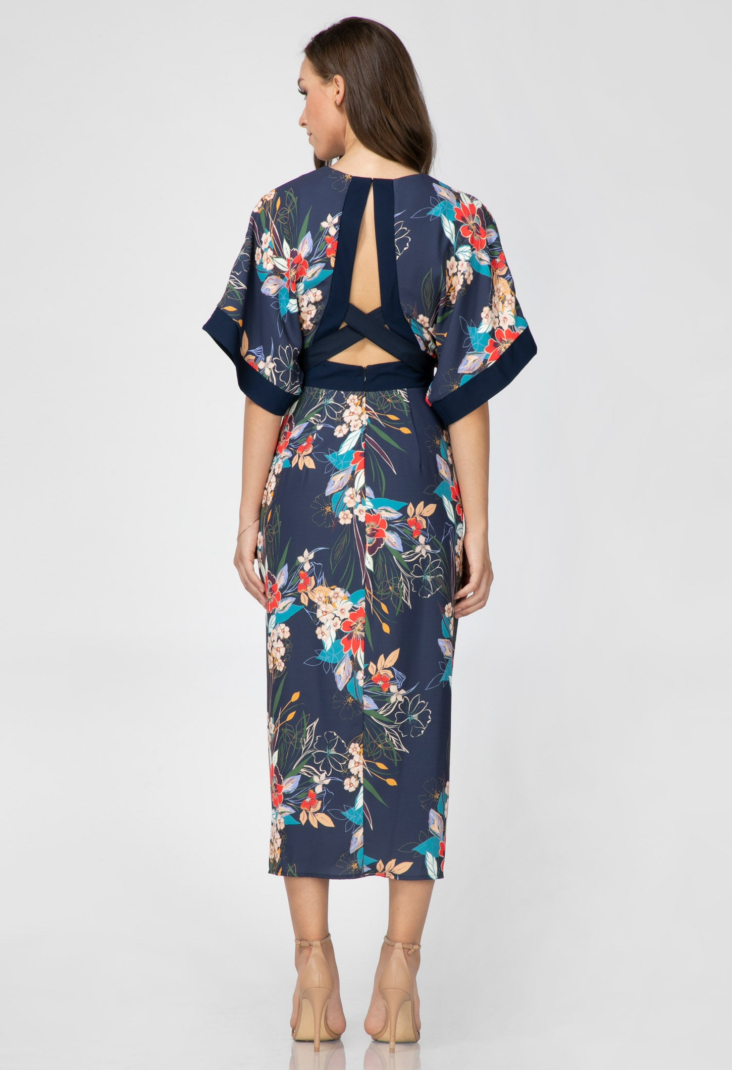 Stevie Open Back Kimono Dress