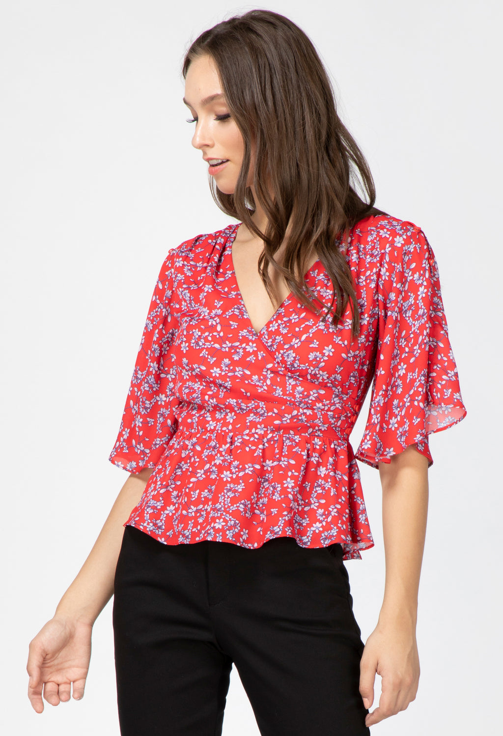 April Butterfly Sleeve Blouse