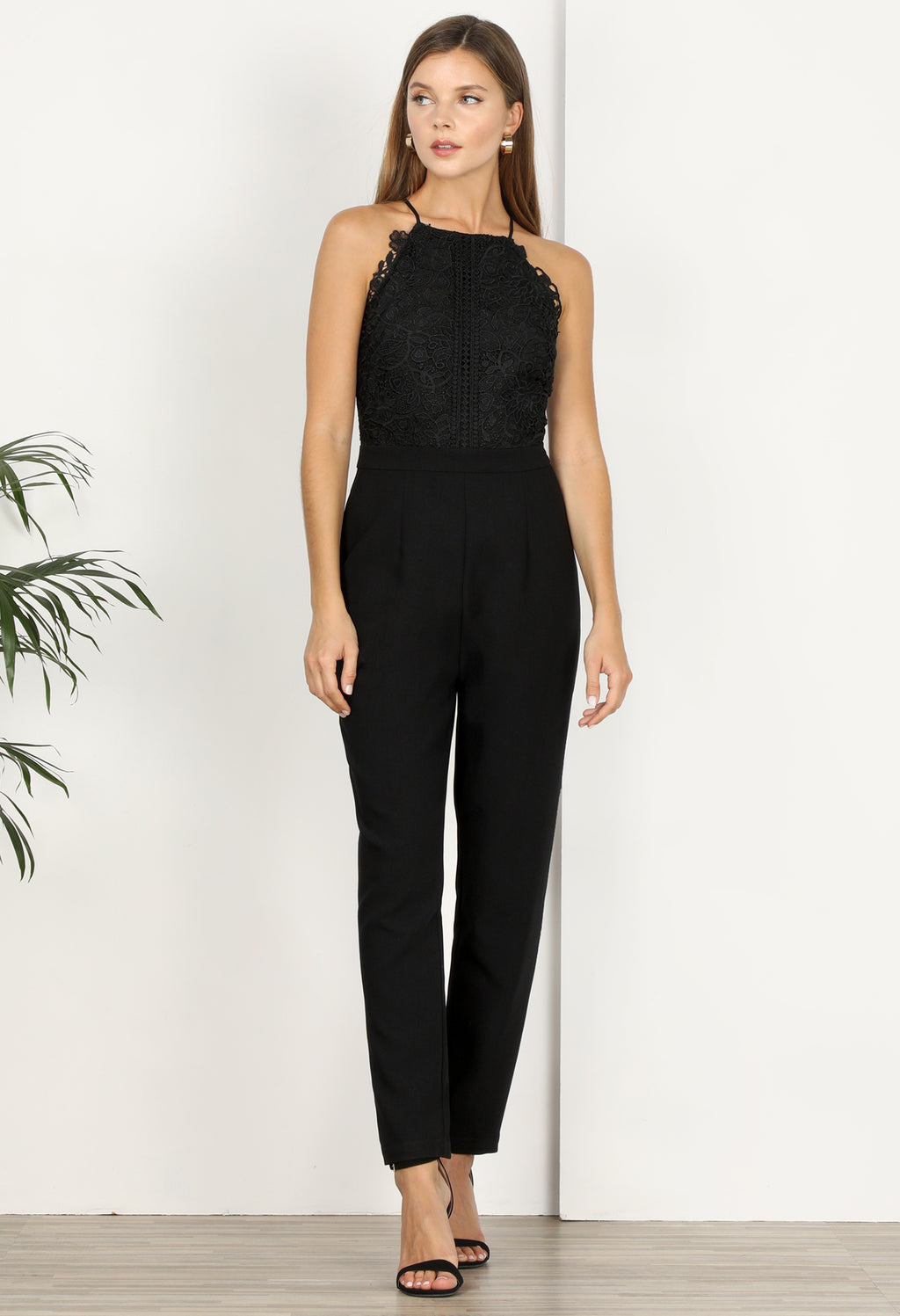 Alessia Lace Mix Jumpsuit