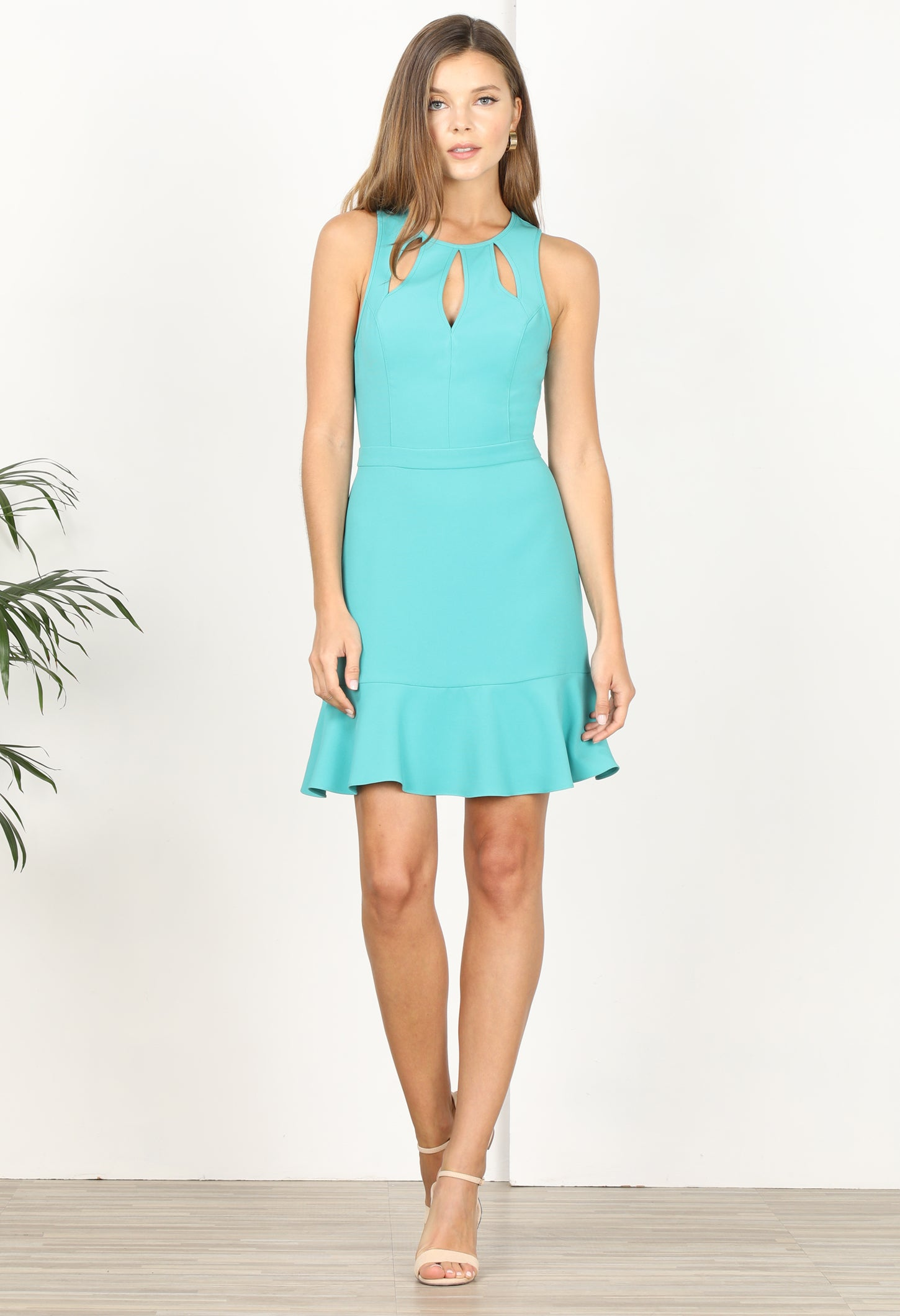 Kandace Ruffle Hem Dress