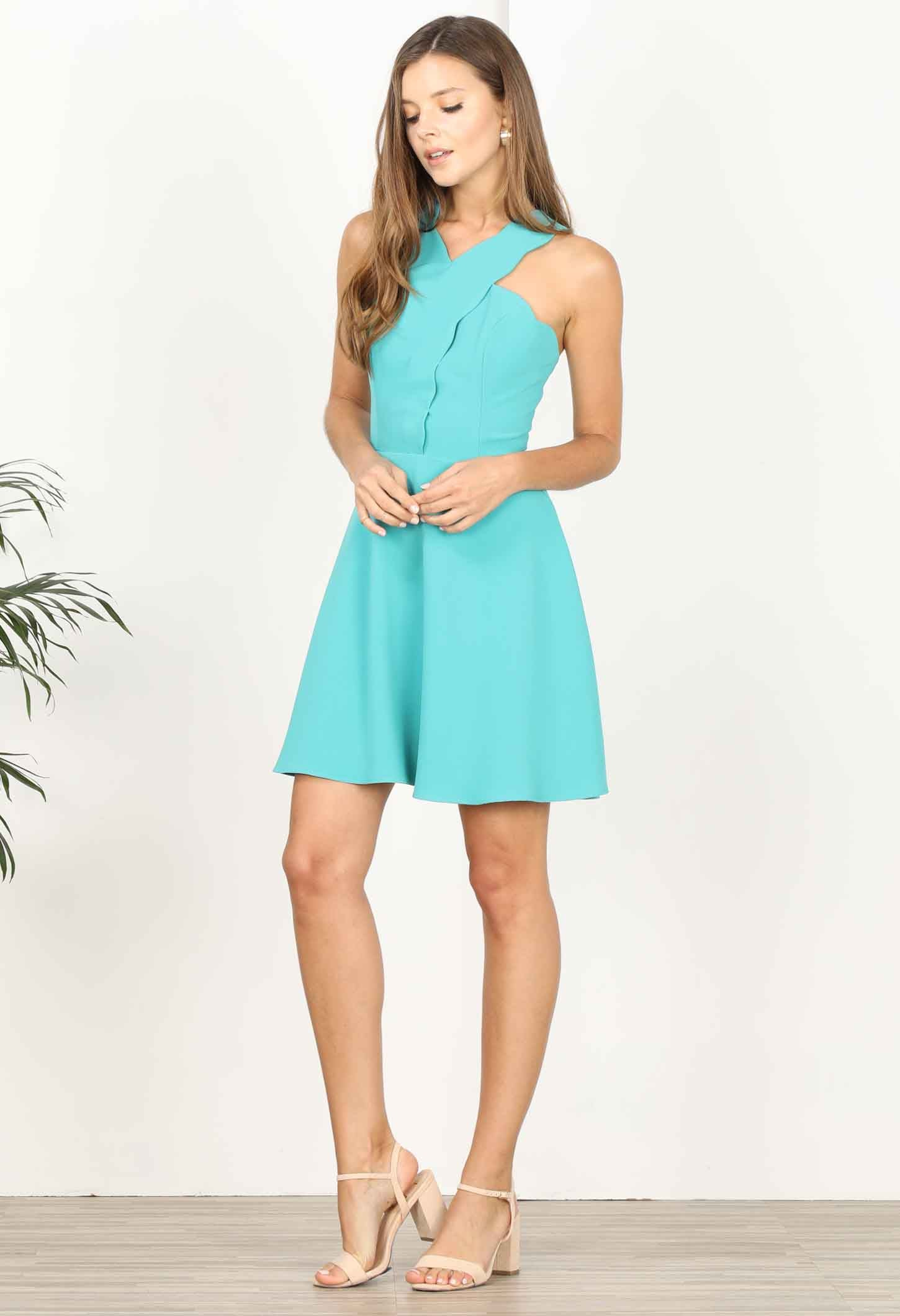 Lenora Scallop Fit and Flare