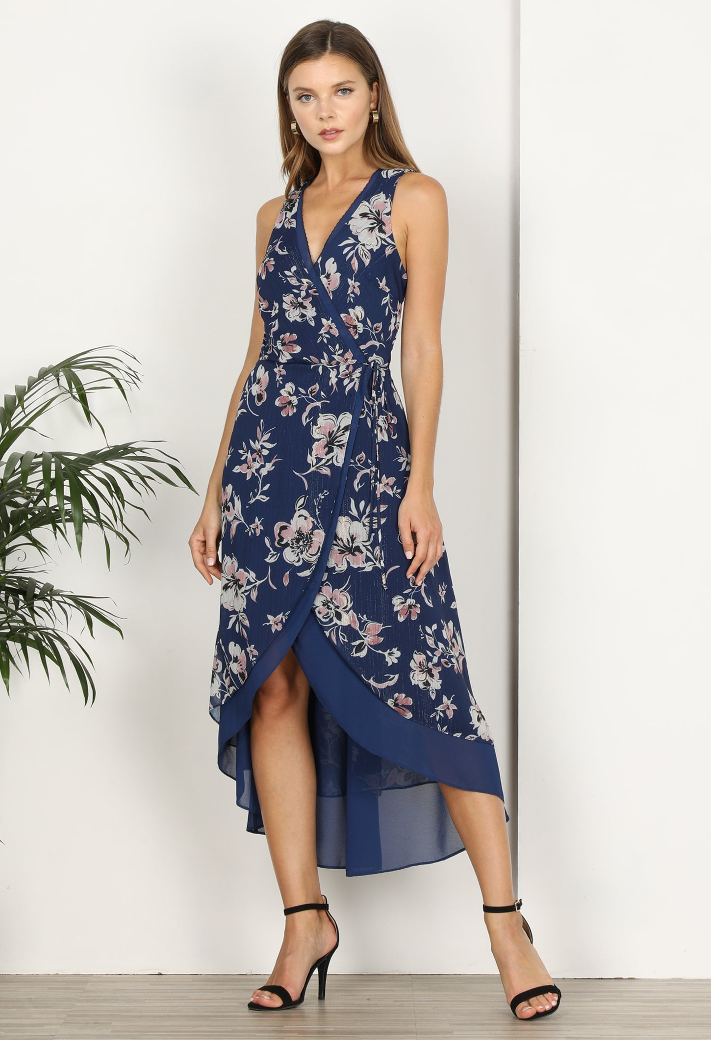 Nicolie Faux Wrap Hi-low Dress