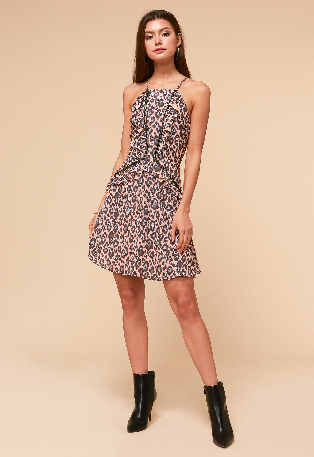Camille Leopard Fit & Flare Dress