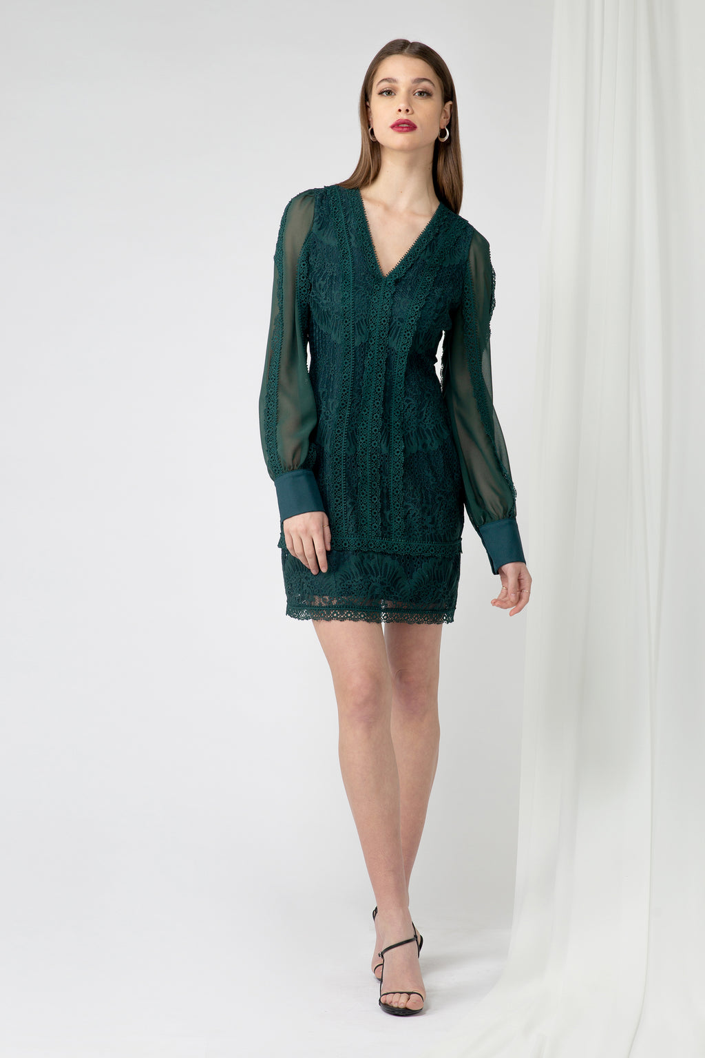 Cori Mixed lace Dress