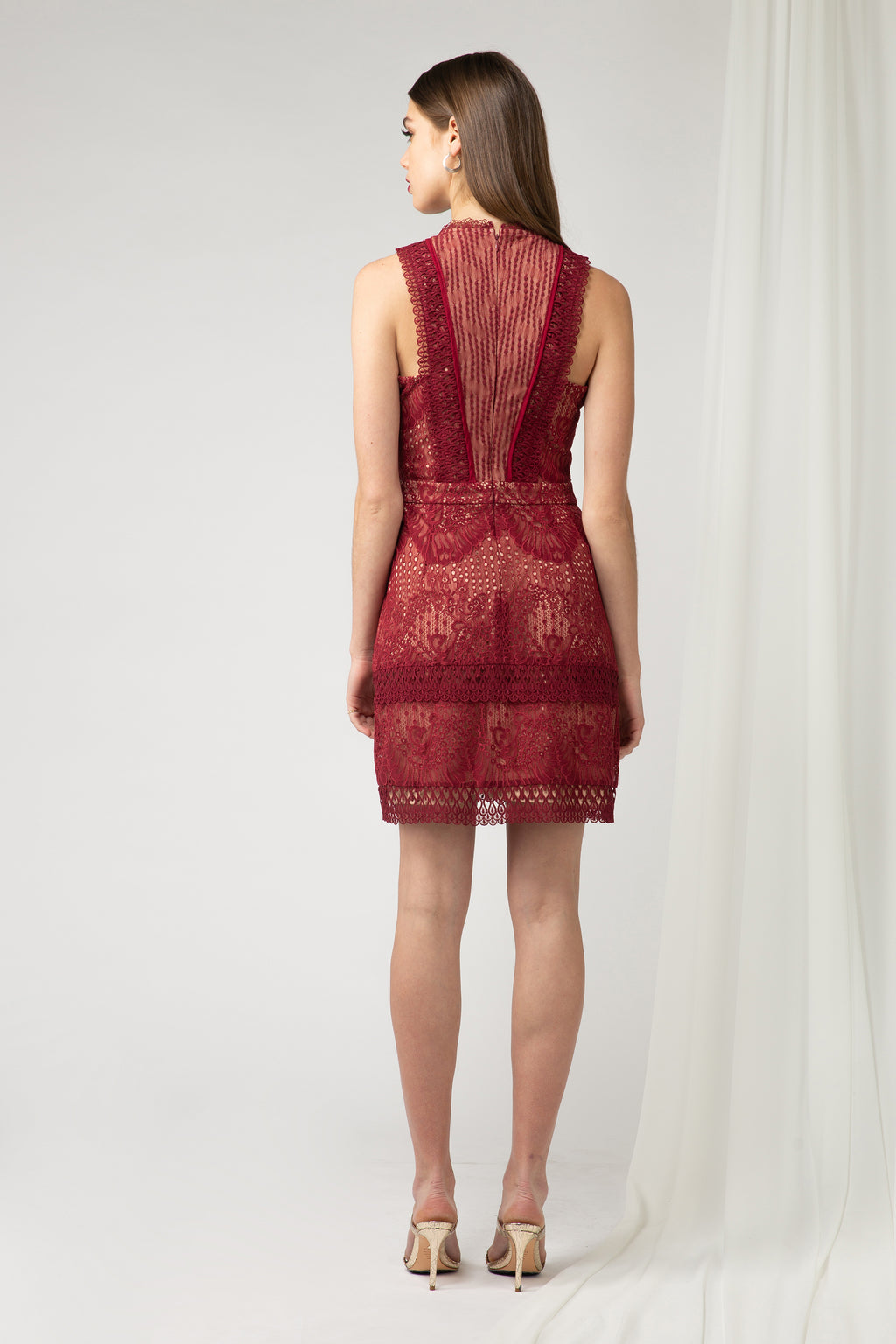 Cori two toned Lace Dress