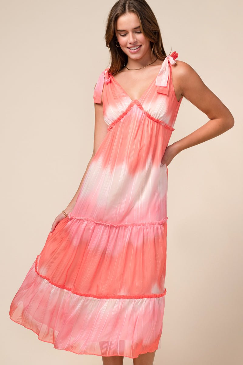 Lauren Tiered Chiffon Dress