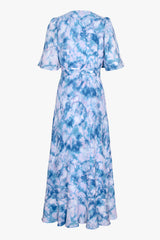 Kayla Tie Dye wrap Dress