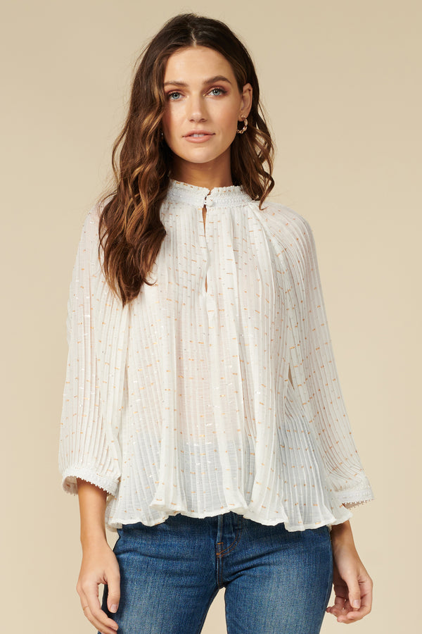 Annelie Pleated Top