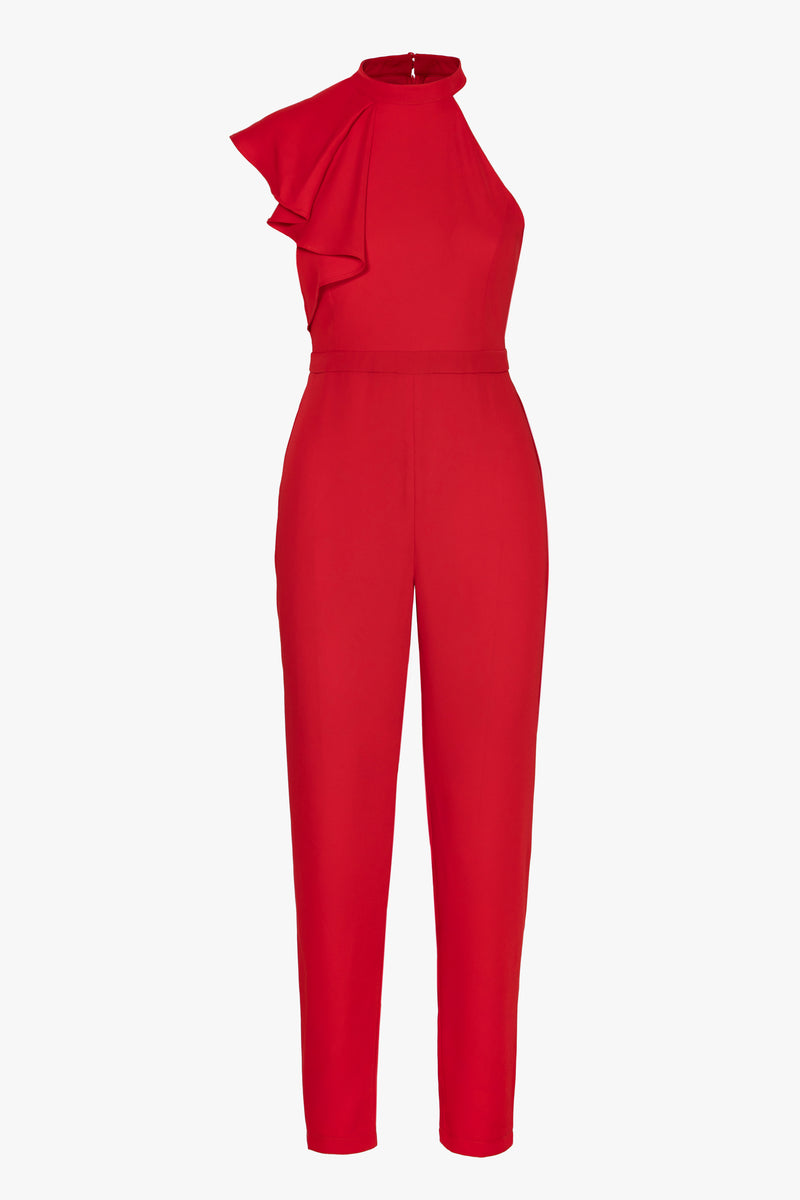 Kailey asymmetric ruffle Jumpsuit