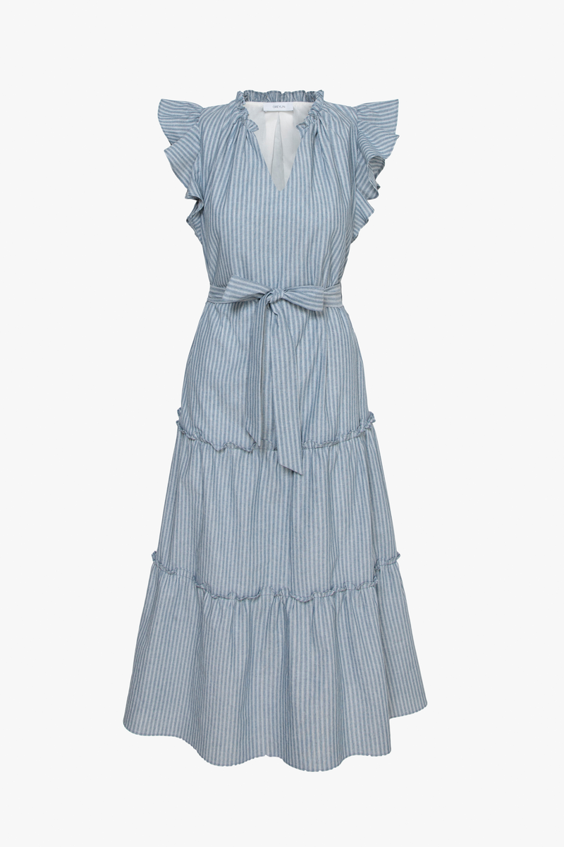 Sadie Cotton Ruffle Midi Dress