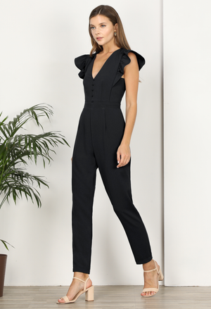 Kandace Ruffle Shoulder Jumpsuit