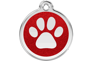 Glitter Enamel ID Tags (Red Styles)