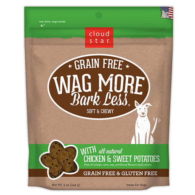 Wag More Bark Less Soft & Chewy Treats: Grain Free Chicken & Sweet Potatoes