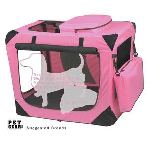 "Deluxe Portable Soft Crate 26.5"" (Pink)"