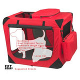 "Deluxe Portable Soft Crate 26.5"" (Red)"