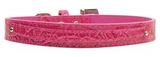 10mm (Small) Two Tier Faux Croc Collar