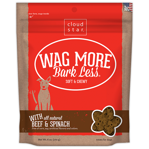 Wag More Bark Less Soft & Chewy Treats: Beef & Spinach